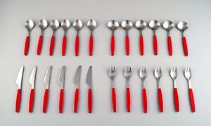 Complete service for 6 p., Henning Koppel. Strata cutlery