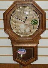 """RHYTHM"" MUSICAL WALL CLOCK -AMERICAN PATRIOT SCHOOLHOUSE18 MELODIES CMJ535UR06"