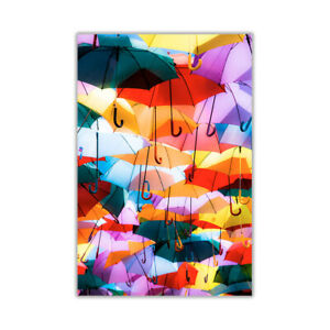 Colourful Abstract Umbrellas Poster Art Wall Decoration Pictures