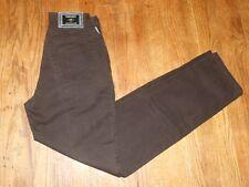 Versace Jeans Couture Women's Brown Straight Leg Jeans 100% Cotton Size 26x30