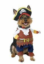 🐶🐱 NEW LARGE Pet Krewe Dog Cat Pirate Halloween Costume Brown Black White Red