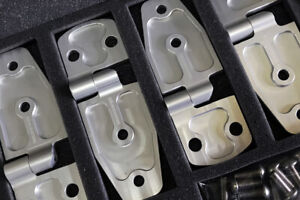 Suzuki Samurai Billet Removable Door Hinges - Clear Anodized