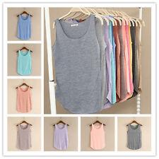 Moda de base sin mangas elástico mujeres Camiseta chaleco camiseta sin mangas Blusa 10 Colores