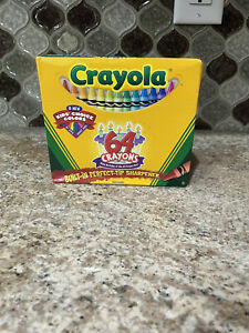 Crayola  Crayons 64ct  with Built-in Sharpener