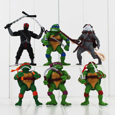 6pcs BIG Ninja Turtle TMNT Action Figure Figurines Cake Decor Topper Kids Toy