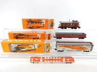 CI787-0,5# 3x Märklin H0/AC USA-Güterwagen/Caboose: 4570+4571+4575, Mängel+OVP