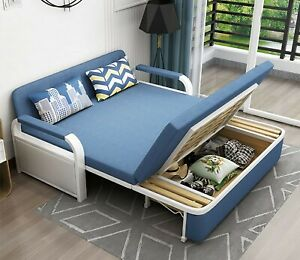 Three Seater Sofa Bed. 150x190cm. Modern, Reclining, Foldable with Storage