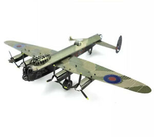 🇬🇧3D Coloured Metal Puzzle. Lancaster Bomber. Iconic War Plane Bouncing Bomb
