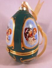 Mr. Christmas Musical Christmas Egg Ornament Valerie Parr Hill Jolly Old St.Nick