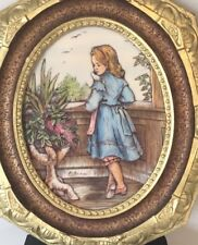 Sculptured Engraving Twin Etched 4D Artini Girl Balcony Turret Hand Painted