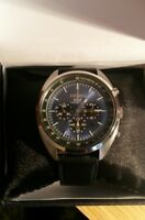 Seiko Recraft Series Solar Mens Retro Style Chronograph Sport Wrist Watch SSC667