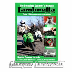 Sticky LAMBRETTA SCOOTERS COMPLETE SPANNER'S MANUAL New 3rd Edition