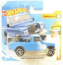 HOT WHEELS LAND ROVER SERIES III PICK UP BLUE WHITE HW HOT TRUCK SHORT CARD MINT
