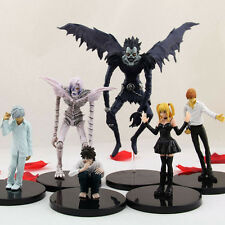 6PCS Death Note Gelus Nia Light Yagami Misa Ryuk Rem 6-16cm PVC Figure Loose