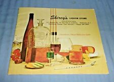 Vintage Shirey's Liquor Store Catalog Westmont NJ 1970