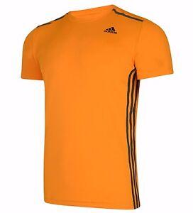 Mens New Adidas Cool 365 Running T-Shirt Top - Fitness Gym Training Gym - Orange