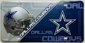 DALLAS COWBOYS LICENSE PLATE METAL FREE SHIPPING BRAND NEW STYLE