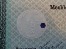 1942 Nazi German Era Municipal Bond-1000 Reichsmark With Swastika Seal