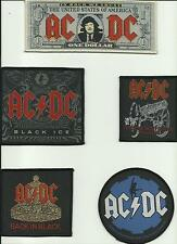 AC/DC bunch of 5 top sellers WOVEN SEW ON PATCHES official ANGUS YOUNG no.2