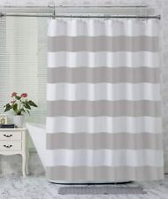 Bold Gray White Striped Modern Farmhouse Elegant Simple Fabric Shower Curtain