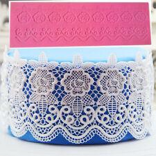 Silicone Cake Lace Mat Mold Fondant  DIY Decorating Wedding Flower Decor Mould