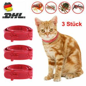 3X Verstellbares Halsband Floh-Und Zeckenhalsband Für Katzen Anti Insekt Schutz