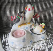 PartyLite Teelichthalter **Spielende Pinguine**  ++Neu/Ovp++ und 1 Teelicht