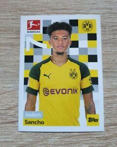 Topps 58 Jadon Sancho Bundesliga 2018 2019 Borussia Dortmund Rookie Sticker