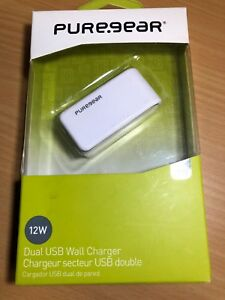 PureGear DUAL USB Chargers 12W - Wall or Car - Qualcomm Quick Charge 2.0
