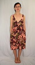 Vintage JAMS WORLD Hawaiian Fuchsia Fern Print Dress Size Small Made in Hawaii