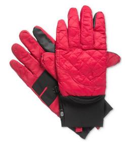 $125 Isotoner Men'S Red Black Stretch Smartouch Ski Warm Winter Gloves Size L/Xl
