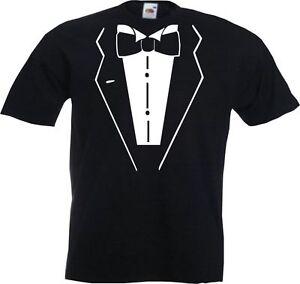 DINNER SUIT TUXEDO BLACK TIE JOKE FANCY DRESS - Mens Cool Tee