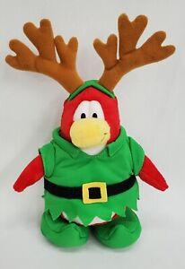 Disney Club Penguin Reindeer Elf Plush Stuffed Animal Toy 2011 Christmas NO COIN