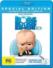 The Boss Baby (Blu-ray) Includes 3D Blu-Ray & Digital - Alec Baldwin - Comedy