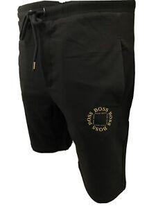 """Mens  Short Cube Logo BNWT Black/gold Cotton Hugo Boss 2020 Medium 32/34"""" Waist"""