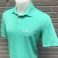 NEW RLX Ralph Lauren TOUR ISSUE Mens Size Large L Teal Green Polo Golf Shirt