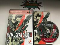 Metal Gear Solid 2 Sons of Liberty Sony PlayStation 2 PS2 - Complete