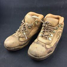 Timberland US Mens 6.5 Womens 8 Hiker Boots Leather Wheat Nubuck Rhinestones