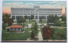 "1909 Postcard St James Building Jacksonville Florida ""Florida Artisitic Series"""
