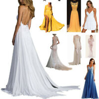 Women Sexy Formal Long Ball Gown Party Cocktail Wedding Bridesmaid Evening Dress