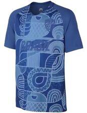 Mens Nike SB x FB Jersey Brasil Varsity Maize Soccer S/S Tee T Shirt Blue Size L