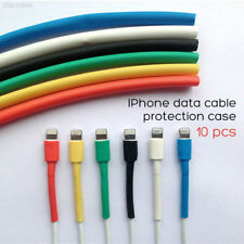 10 X Colorful Repair cord saver charging Cable Sleeve protect for iPhone Samsung