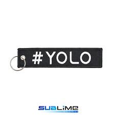 Fabric Key Ring YOLO Keychain Pilot Bag Tag Luggage Keyring