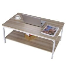 Industrial Accent Coffee Table Tea End Table with Storage Shelf Living Room New