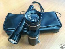 Portable Handheld Dark Field 10x Loupe + LED Flashlight Torch Gem Testing Tool