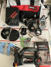 Rotozip Power Model RZ18V By Bosch 18 Volt F012mdc100 tool,battery & accessories
