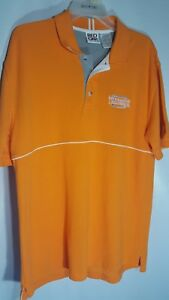 Red Oak Sportswear  Men's Large Orange Tennessee Polo Shirt 3 Button Placket