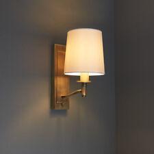 Endon Ortona de pared de luz 40 W E14 blanco y acabado de latón antiguo de vela de seda de imitación