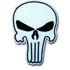 Small Punisher Skull Patch Iron on Seal Harley Chopper Biker Rider Gun  Painball
