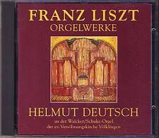 Helmut DEUTSCH: LISZT Präludium Fuge B-A-C-H Weinen Klagen Sorgen Zagen ORGAN CD